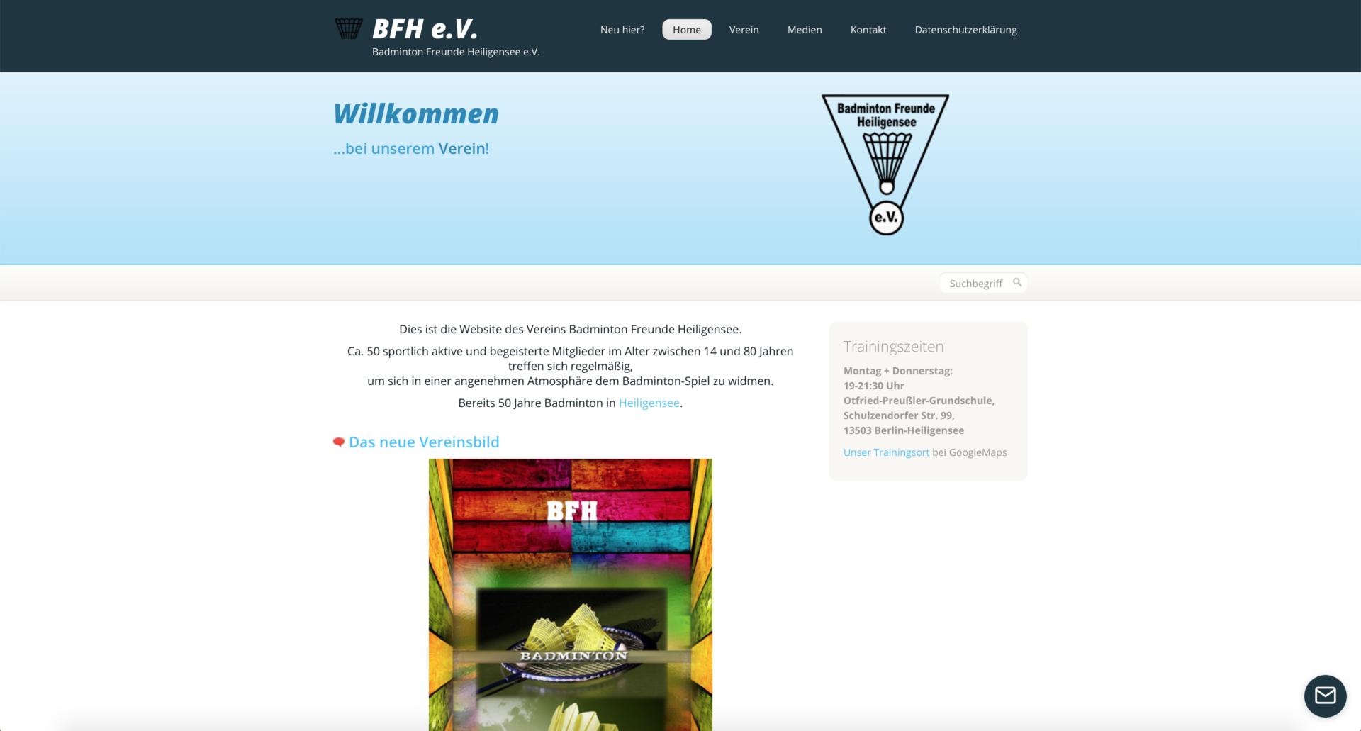 badmintonfreundeheiligensee.de